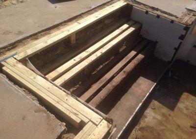 Inground wood steps remodel